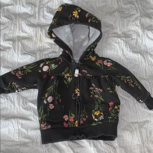 Baby Girl 3M Carter's Floral Sweat Jacket